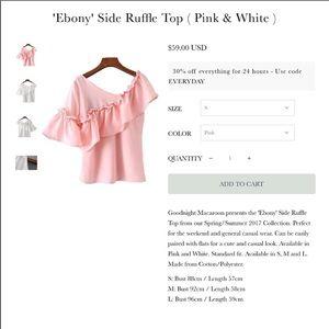 Ebony Side ruffle Pink Top